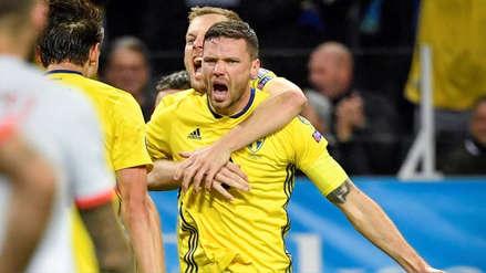 La doble atajada de De Gea no alcanzó: el gol de cabeza de Marcus Berg que puso el 1-0 de Suecia