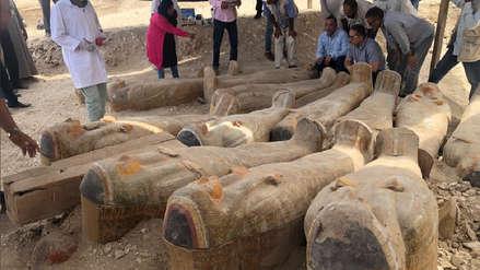 El impresionante hallazgo de más de 20 sarcófagos en una necrópolis de Egipto [FOTOS]