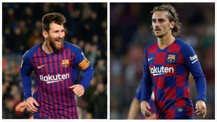 ¡Lo dejó parado! El amague de Lionel Messi a Griezmann en el entrenamiento de Barcelona