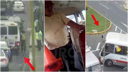 Conductor informal secuestró a 3 inspectores de tránsito para impedir el decomiso de su bus [VIDEO]
