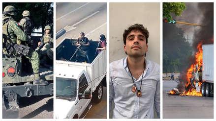 20 imágenes del terror desatado en Culiacán tras la detención fallida del hijo del 'Chapo' Guzmán