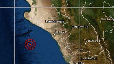 Un sismo de magnitud 4.5 se registró esta madrugada en Chiclayo