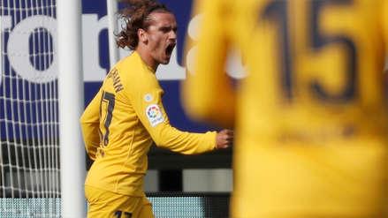 ¡Barcelona se adelanta! Griezmann anotó ante Eibar tras excelente definición de zurda