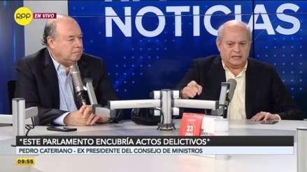 Pedro Cateriano y Raúl Castro sostuvieron encendido debate sobre la disolución del Congreso [VIDEO]