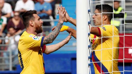 Con gol de Lionel Messi, Barcelona goleó 3-0 a Eibar por la fecha 9 de LaLiga