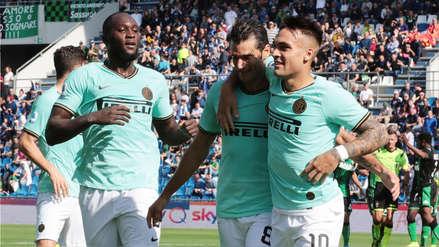 Con doblete de Lautaro Martínez, Inter de Milán ganó 4-3 a Sassuolo por la Serie A