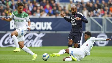 Sin Miguel Trauco, Saint Etienne ganó 1-0 a Bordeaux por la fecha 10 de la Ligue 1
