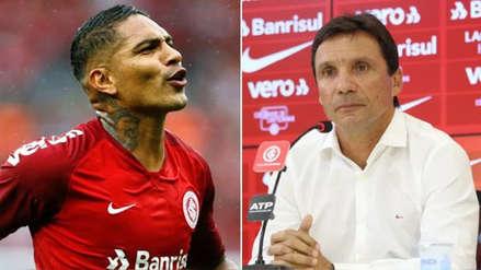 """Técnico de Inter de Porto Alegre sobre Paolo Guerrero: """"Pronto volverá a anotar"""""""