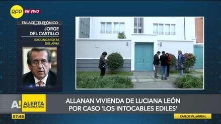 Del Castillo sobre Luciana León: