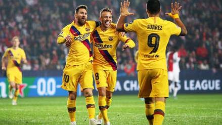 Con gol de Lionel Messi, Barcelona ganó 2-1 a Slavia Praga en la Champions League