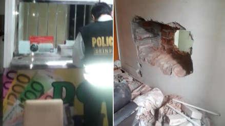 Delincuentes roban casa de cambios tras ingresar por un agujero en vivienda contigua