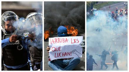 Violentas protestas en Honduras por investigación de narcotráfico a presidente Juan Orlando [Fotos]