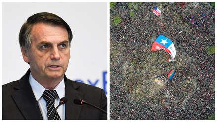 Jair Bolsonaro culpó a la izquierda de las protestas en América Latina