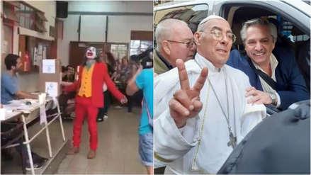 El 'Joker' y el papa Francisco ponen el toque de humor en las elecciones argentinas [VIDEO]