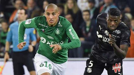 Saint Etienne de Miguel Trauco empató 2-2 ante Amiens SC por la fecha 11 de la Ligue 1