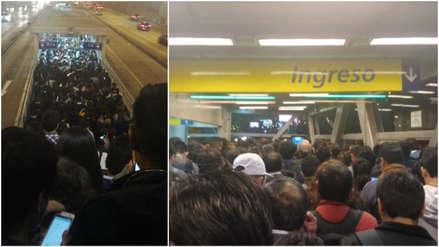 Así fue el colapso de las estaciones del Metropolitano reportado por pasajeros [FOTOS Y VIDEOS]
