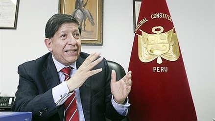 """Carlos Ramos, magistrado del Tribunal Constitucional: """"El proceso electoral en marcha queda en pie"""""""