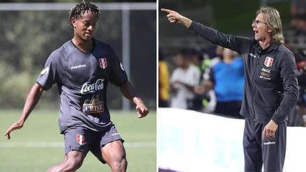 Ricardo Gareca explicó el motivo por el que André Carrillo no fue convocado a la Selección Peruana
