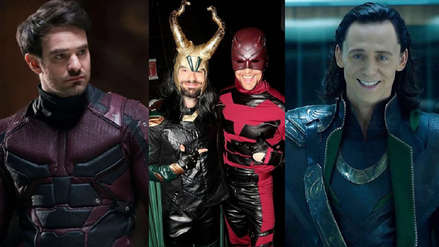 Halloween: Tom Hiddleston se viste de Daredevil y Charlie Cox de Loki para sorprenden a los fans de Marvel