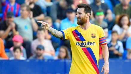 ¡Exquisita definición! Lionel Messi anotó ante Levante por la Liga Santander