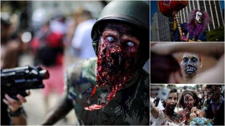 Brasil: Los maquillajes más logrados de la marcha zombi que se tomó las calles de Sao Paulo [FOTOS]