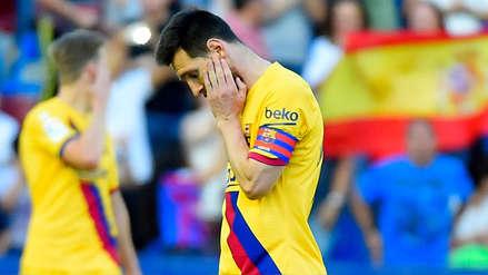 La cara de Messi lo dice todo: así reaccionó Barcelona tras derrota ante Levante