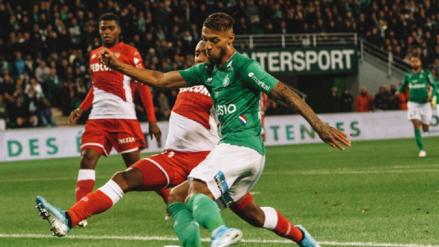 ¡Gran triunfo! Saint Etienne venció 1-0 a Mónaco por la jornada 12 de la Ligue 1