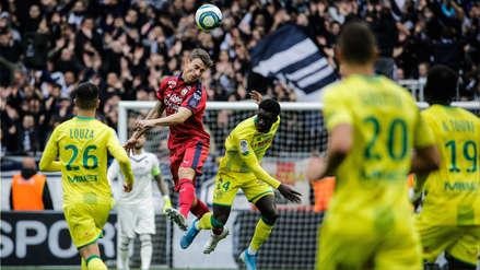 Con Cristian Benavente, Nantes cayó 2-0 ante Bordeaux por la fecha 12 de la Ligue 1