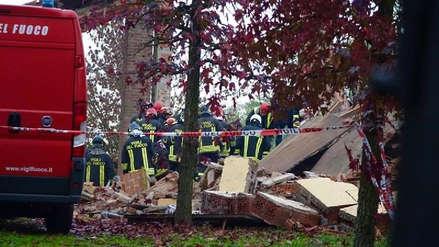 Tres bomberos murieron por una explosión registrada en una casa incendiada en Italia
