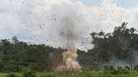 Fuerzas del orden destruyen tres pistas de aterrizaje clandestinas en Huánuco y Pasco