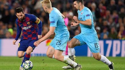 Lionel Messi casi anota un golazo ante Slavia: estrelló zurdazo al palo tras gran corrida de 50 metros
