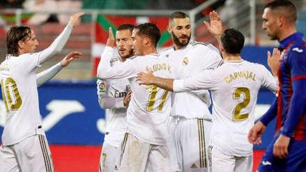 Real Madrid goleó 4-0 a Eibar con doblete de Karim Benzema por la Liga Santander