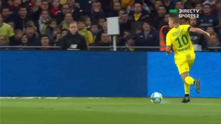 ¡Excelente asistencia! El gran pase de Cristian Benavente para el primer gol del Nantes vs. Saint Etienne