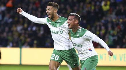 ¡Con gol de Miguel Trauco! Saint Etienne venció 3-2 a Nantes de Cristian Benavente por la fecha 13 de la Ligue 1