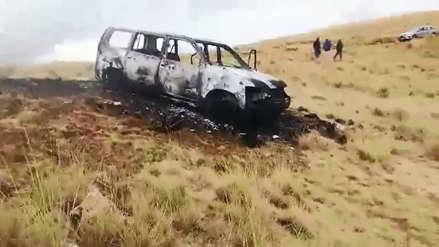 Jauja: Cinco personas mueren calcinadas dentro de vehículo en distrito de Paccha