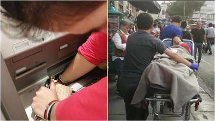 La mano de una mujer embarazada quedó atascada en un cajero multiusos en el Cercado de Lima