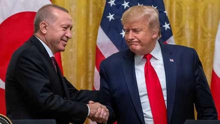 Donald Trump recibió en la Casa Blanca al presidente de Turquía tras polémica por Siria