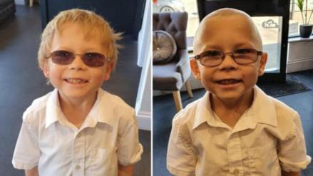 """""""No quería que estuviera solo"""": Un niño de siete años se rapa la cabeza para apoyar a su amigo con cáncer"""