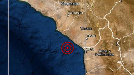 Un fuerte sismo de magnitud 5.5 se sintió en Tacna esta madrugada