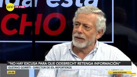Gorriti: Si Odebrecht no entrega información, entonces deberían tomarse