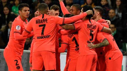 PSG  4-0 Saint Étienne por la fecha 18 de la Ligue 1   RPP Noticias