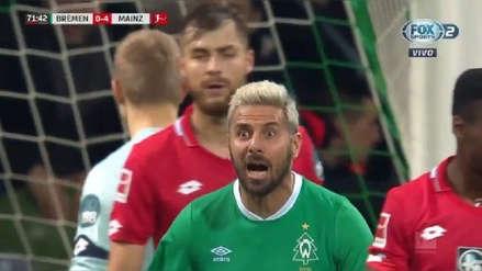VER GOL Claudio Pizarro anotó ante Mainz por la Bundesliga, pero el árbitro lo anuló por mano | RPP Noticias