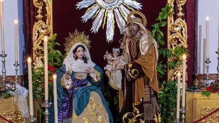 Regalan al papa Francisco un nacimiento en el que la Virgen descansa y José cuida al niño Jesús