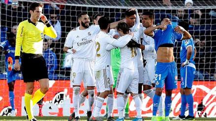 AHORA EN VIVO Real Madrid 2-0 Getafe: LaLiga Santander VER ONLINE EN DIRECTO vía ESPN 2 por la fecha 19 en el Coliseum Alfonso Pérez | Fútbol EN VIVO | RPP Noticias
