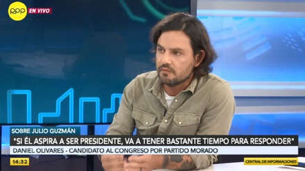 Daniel Olivares sobre escándalo de Julio Guzmán: