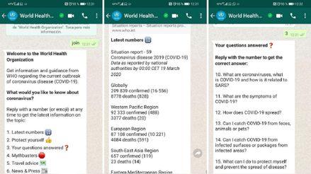 OMS lanza un bot oficial en WhatsApp con información sobre el coronavirus: así puedes tenerlo