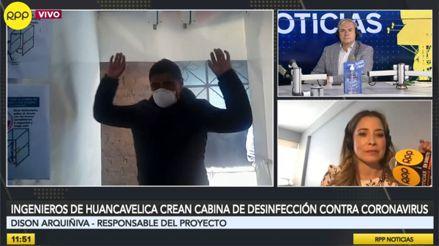 Ingenieros de Huancavelica crean cabina de desinfección para combatir el COVID-19 [AUDIOS]