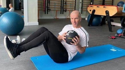 ¡No pierde la forma! Zinedine Zidane mostró su ardua rutina de entrenamiento durante la cuarentena
