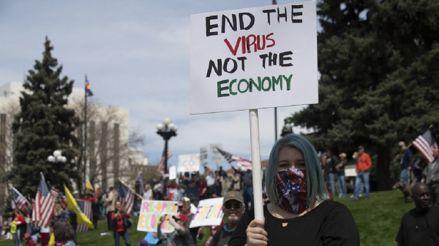 Estados Unidos: Ultraderechistas protestan en Colorado contra cuarentena