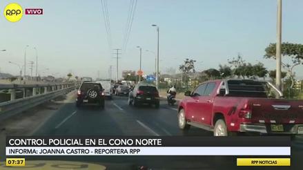 Policías y militares realizan control a vehículos que transitan por la Panamericana Norte [VIDEO]